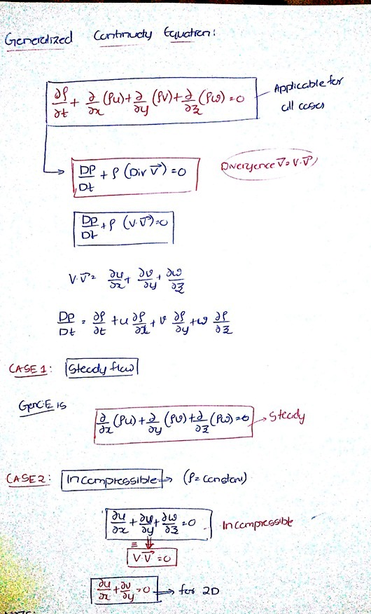 Derive continuity equation in three dimensional Cartesian